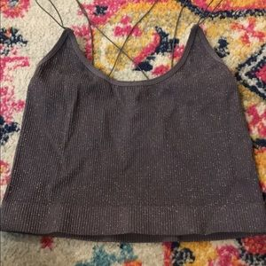 Urban outfitters purple sparkly top